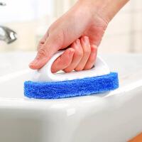 【好货】浴室厨房海绵刷 浴缸抽油烟机缝隙清洁刷瓷砖刷 浴缸刷 蓝色 2个装