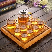 【优选】 透明玻璃茶具套装功夫茶杯套装茶壶泡茶器耐热加厚家用简约