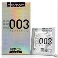 成人用品 冈本003白金薄避孕套 10片装0.03两性用品安全套