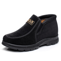 男棉鞋冬季中老年爸爸鞋加绒保暖休闲鞋一脚蹬男鞋