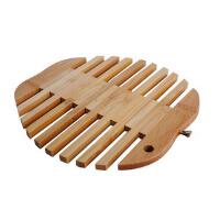 味老大 天然竹制隔热垫 碗垫盘垫 厨房杯垫 锅垫 竹餐垫 创意餐桌垫 3个装苹果形垫