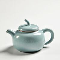 汝瓷手工茶壶 陶瓷汝窑 单壶大号开片功夫茶具多款可选