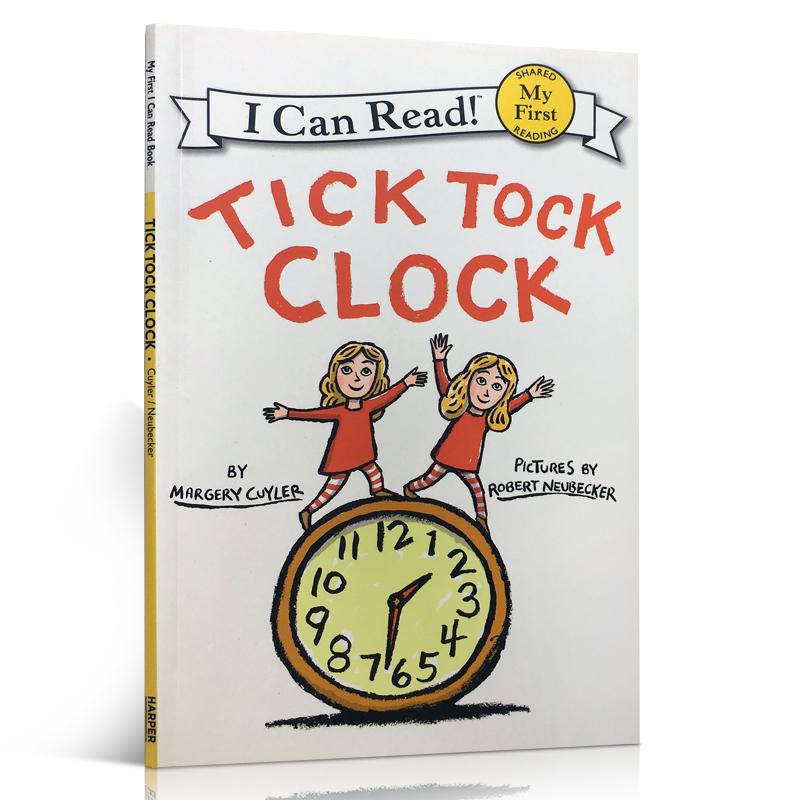 顺丰包邮 My First I Can Read Tick Tock Clock 嘀嗒响的闹钟  给初级小读者的韵文游戏 幼儿启蒙认知英文原版童书