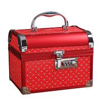 首饰盒结婚女方陪嫁婚庆用品红色新娘嫁妆盒百宝箱高档礼物中国风