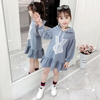 2019秋季新款韩版洋气儿童卫衣童装春秋季长袖裙子女童连衣裙