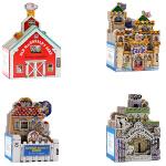 迷你屋系列4册Workman Mini House造型书英文原版 儿童启蒙玩具书 鹅妈妈的家老麦克唐纳家的谷仓