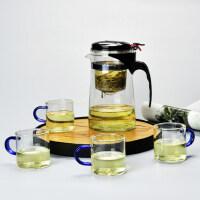 耐热玻璃飘逸杯茶壶玲珑杯不绣钢内胆过滤泡茶器茶道茶具套装茶杯