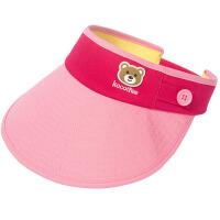 儿童帽子春夏男女童鸭舌帽防晒宝宝遮阳帽空顶沙滩帽