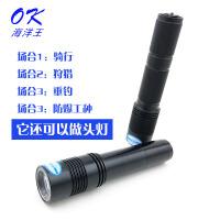 微型固态防爆强光手电筒JW7620A头灯迷你可充电军