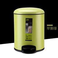 20190624144125028华萍(HP) 金属脚踏垃圾桶 环保时尚有盖垃圾筒卫生间客厅厨房家用