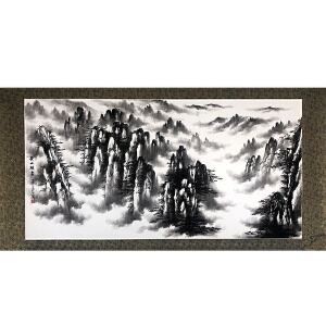 国家一级美术师 刘英江(黄山烟云)已托裱ZH77