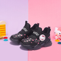 【3折价:98.7元】HELLO KITTY 凯蒂猫老爹鞋童鞋2020秋季新款女童鞋中大童透明底甜美运动户外鞋K0543