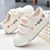 儿童帆布鞋女童布鞋魔术贴童鞋夏季学生鞋子宝宝小白板鞋