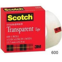 3M 思高 600 1/2 透明 胶带 文具胶纸 12.7mm*32.9m