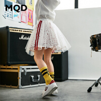 MQD童装女童网纱短裙2020春装新款儿童条纹网纱裙子运动休闲裙潮