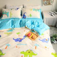 20181026210515533卡通四件套儿童单人宿舍恐龙三件套纯棉被套床单1.2米1.8床上用品