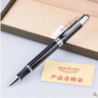 英雄1028经典纯黑银夹暗尖铱金笔 英雄钢笔 礼品笔