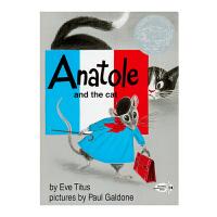 美国进口凯迪克银奖作品 Anatole and the Cat 阿纳托尔和猫的故事平装4-9岁趣味英文原版故事童书经典