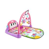 费雪健身架器脚踏钢琴新生宝宝音乐游戏地毯婴儿爬行垫玩具W2621
