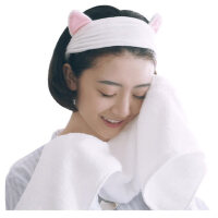 洁丽雅束发带洗脸发箍韩版可爱发套女敷面膜化妆头饰发带洗澡头巾