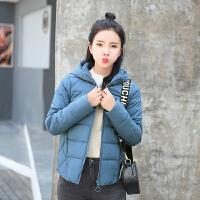 女士棉衣女冬2018新款韩版潮时尚百搭连帽短款小棉袄羽绒外套