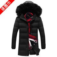 冬季棉衣男士外套胖子加肥加大码中长款羽绒肥佬宽松加厚棉袄 68黑色 L