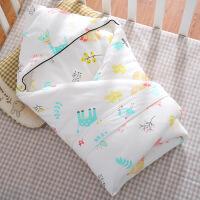 新生婴儿抱被 纯棉 秋冬初生婴儿抱被新生儿包被纯棉春秋冬季加厚抱毯宝宝被子外出