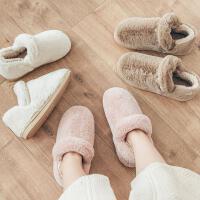 冬季包跟棉鞋女冬天月子鞋加厚保暖男女情侣家居室内毛毛拖鞋