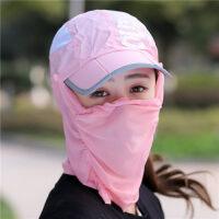 沙漠帽子男骑车钓鱼防晒户外护颈一体女遮脸折叠徒步旅游用品装备 可调节,多种戴法