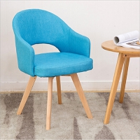【品牌特惠】北欧实木餐椅家用现代简约单人沙发电脑椅子靠背咖啡厅书桌椅