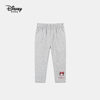 618【2件4折:38元】迪士尼女童七分打底裤儿童针织中裤2021夏装新款洋气卡通裤子