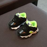 亲子装冬款男宝宝棉鞋加绒保暖学步鞋0-2岁婴儿运动鞋软底防滑休闲童鞋 黑色 15码内长12cm
