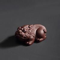 宜兴紫砂茶宠摆件精品貔貅茶宝可养功夫茶具招财茶玩创意茶道配件