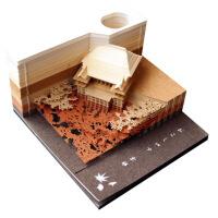 立体便利贴古风创意日本清水寺立体便利贴3D便签本建筑模型纸雕便签纸网红款