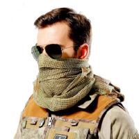 特种兵战术网布围巾 户外运动丛林迷彩大网巾 军迷多用途伪装网巾