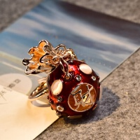 福袋葫芦 汽车钥匙扣情侣挂饰 水晶钥匙挂件吊坠创意礼品