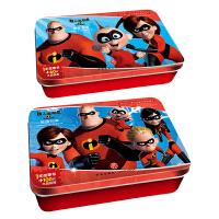 超人总动员阶梯成长训练铁盒拼图套装共2盒 超能宝宝60片+英雄归来100片 附赠参考图及故事书