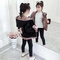 中大童秋冬装加厚呢子大衣2019新款韩版儿童夹克女童冬装外套