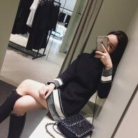 秋冬季2018新款高冷范女装针织连衣裙山本风气质打底裙子复古 黑色