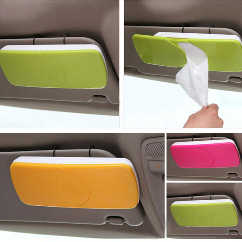 车用纸巾盒吸顶汽车天窗式纸巾盒车载挂式抽纸盒遮阳板式纸巾盒