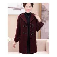 中老年女装时尚秋冬装毛呢外套40-50-60岁妈妈中长款加厚呢子大衣