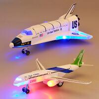 彩珀航天飞机合金飞机玩具汽车模型仿真客机A380金属C919儿童男孩