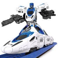 2018新款 和谐号变形玩具 高铁金刚小火车套装电动轨道车儿童3男孩5-6岁4 和谐号_变形轨道车 官方标配