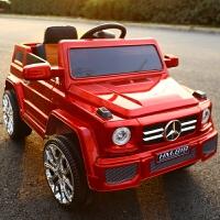 充电!越野儿童电动车四轮童车可坐人小孩宝宝玩具电瓶汽车带遥控 烤漆红 所有功能+车身烤漆+皮座