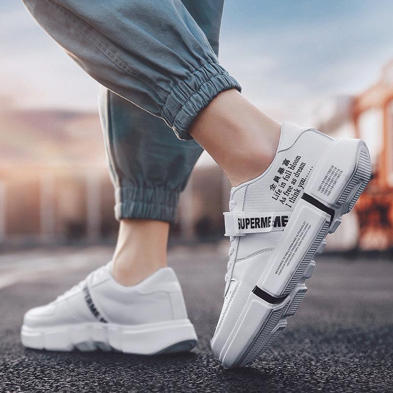 男鞋春季2019韩版学生百搭运动休闲鞋子男士帆布跑步板鞋潮鞋