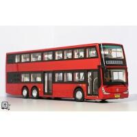 1:43 北京公交广通银隆GTQ6131BEVST3双层观光巴士客车模型 红色原厂版