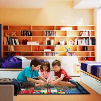 惠多 休闲地毯 飞行棋游戏地毯 100**0厘米时尚客厅卧室  儿童 休闲地毯  块毯 爬行毯【支持礼品卡支付】即是地毯又是玩具