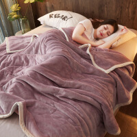 双层毛毯被子加厚冬季毯子珊瑚绒床单法兰绒羊羔绒单人午睡毯男女定制