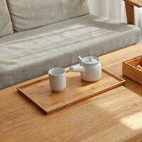 木质长方形托盘北欧家用咖啡杯水杯盘竹制早餐盘日式木盘
