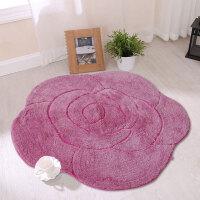 享家超柔玫瑰花多功能吸水地垫门垫脚垫地毯 女朋友礼物
